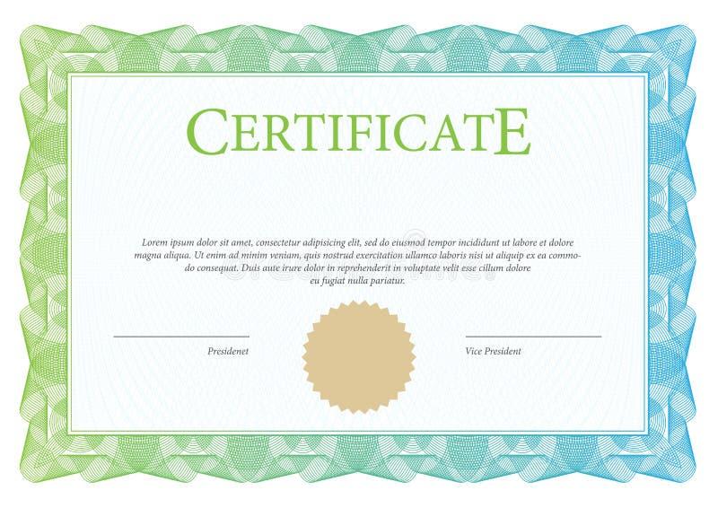 Plantilla del certificado y del diploma ilustración del vector