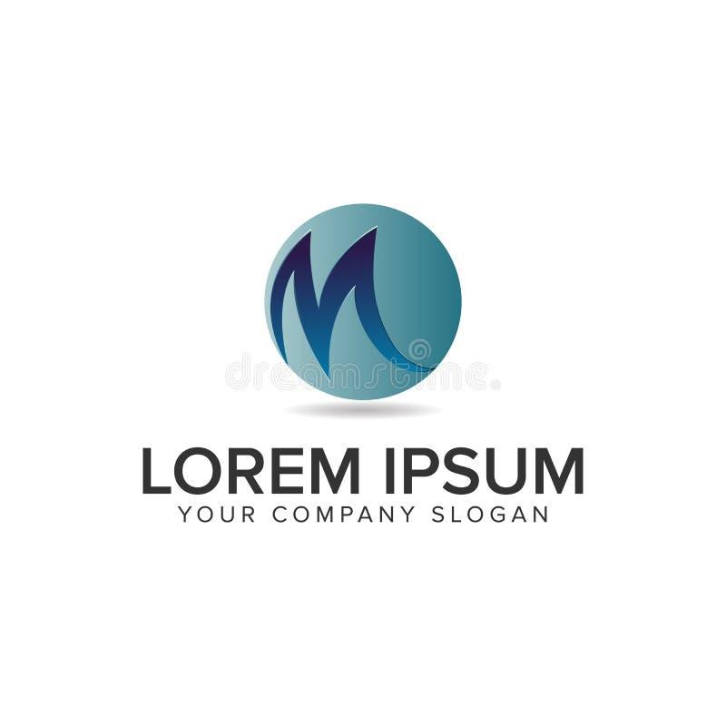Plantilla del concepto de diseño del logotipo del globo de la letra M Completamente editable libre illustration