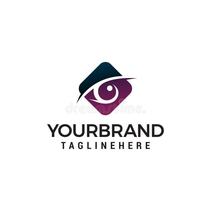 Plantilla del concepto de diseño del logotipo del hexágono de los ojos libre illustration