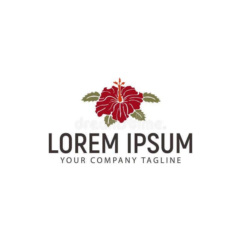 Plantilla del concepto de diseño del logotipo de la flor del hibisco libre illustration