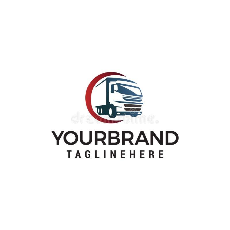 Plantilla del concepto de dise?o del logotipo del transporte del cami?n stock de ilustración
