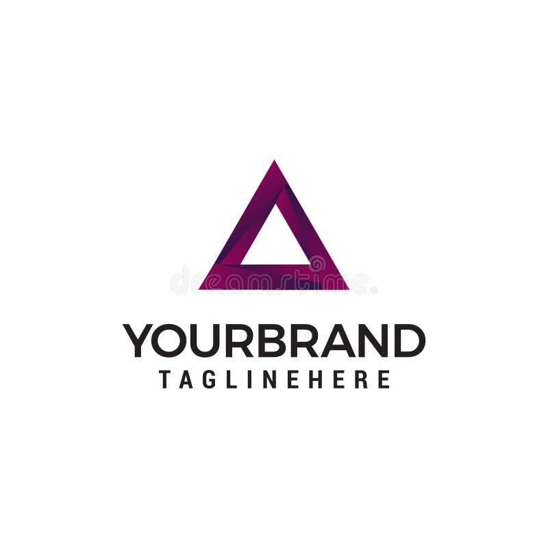 Plantilla del concepto de diseño del logotipo de Triangel stock de ilustración