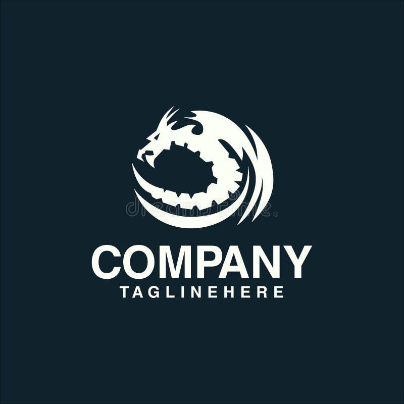 Plantilla del concepto del logotipo del dragón ilustración del vector