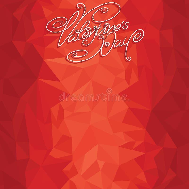 Plantilla del contexto de las tarjetas del día de San Valentín ilustración del vector