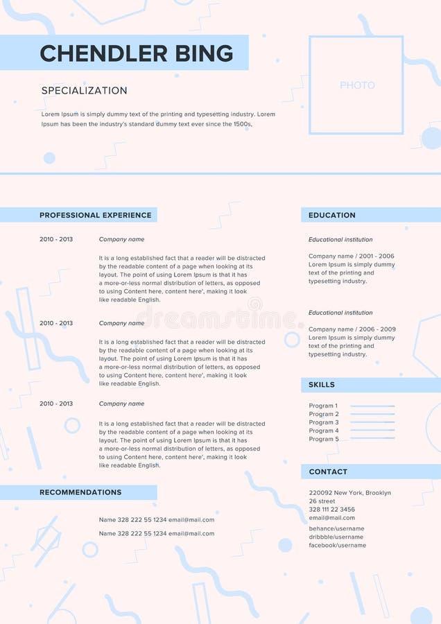 Plantilla Del Cv Curriculum Vitae Minimalista, Página Web, Uso De ...