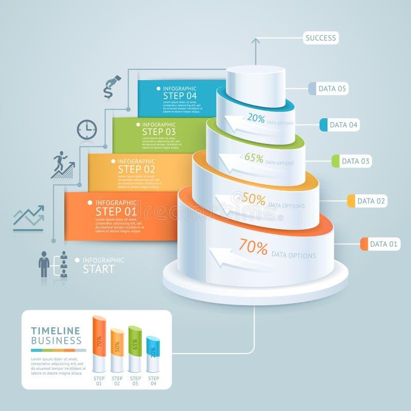 Plantilla del diagrama de la escalera del negocio stock de ilustración