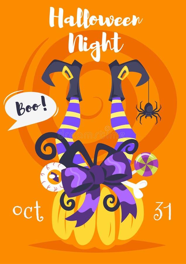 Plantilla del diseño del cartel de Halloween libre illustration