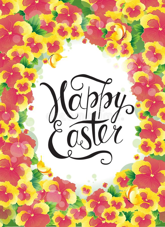 Plantilla del diseño del cartel del vector del partido de la caza del huevo de Pascua ilustración del vector