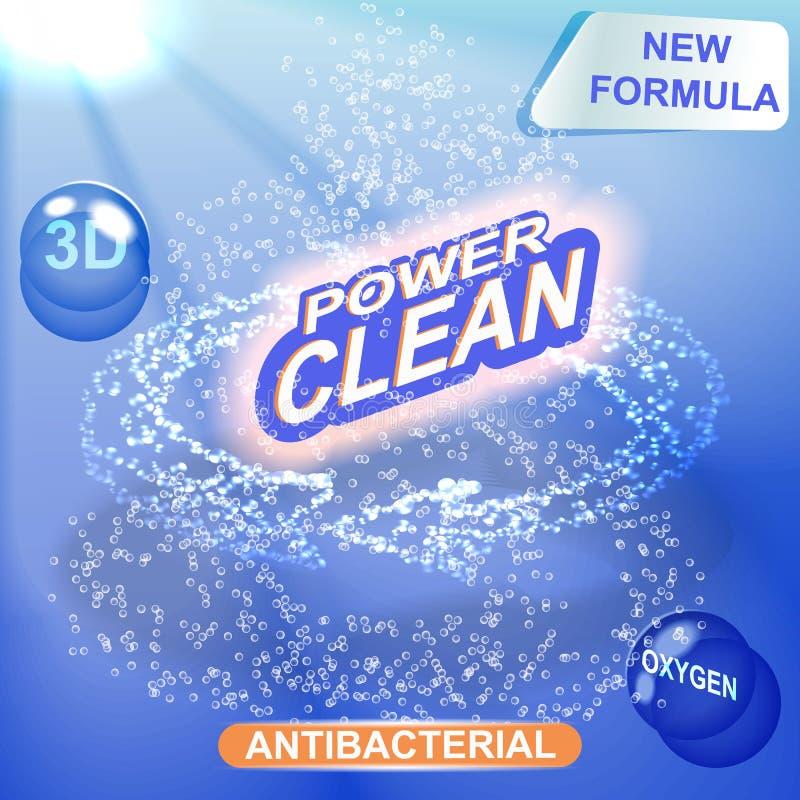 Plantilla del diseño de empaquetado del detergente stock de ilustración