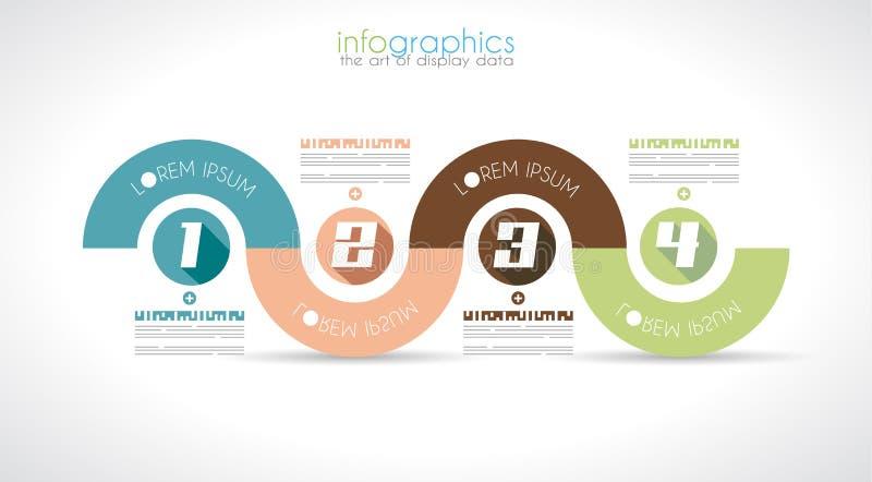 Plantilla del diseño de Infographic con estilo plano moderno. stock de ilustración