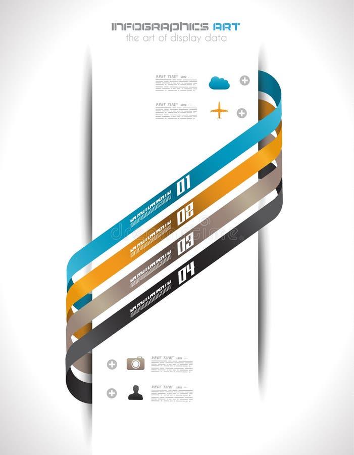 Plantilla del diseño de Infographic con las etiquetas de papel. libre illustration