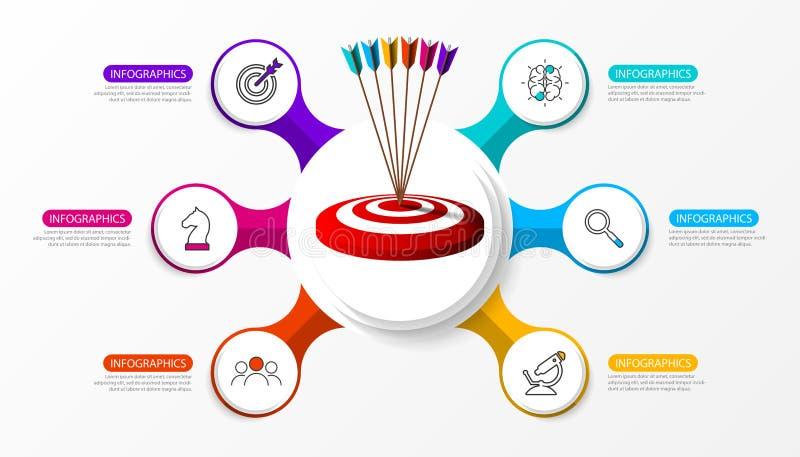 Plantilla del diseño de Infographic Concepto creativo con 6 pasos ilustración del vector