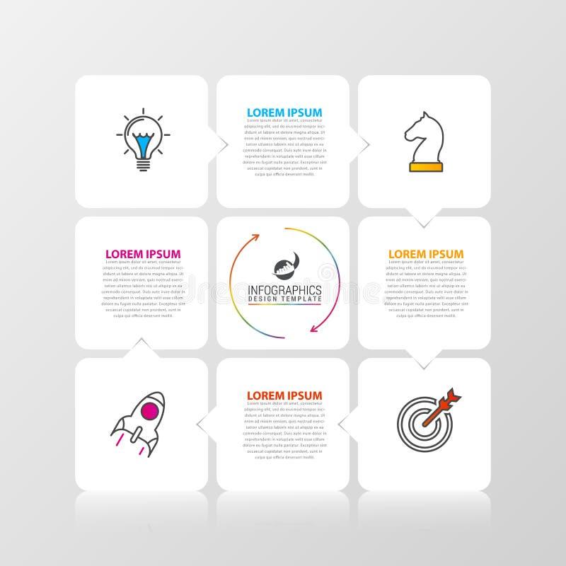 Plantilla del diseño de Infographic Concepto del negocio con 4 pasos stock de ilustración