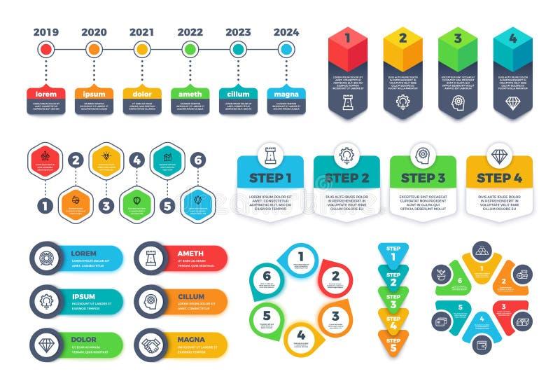 Plantilla del diseño de Infographic Los diagramas con mejores ventas del infographics del negocio, cartas y banderas, vector la d libre illustration