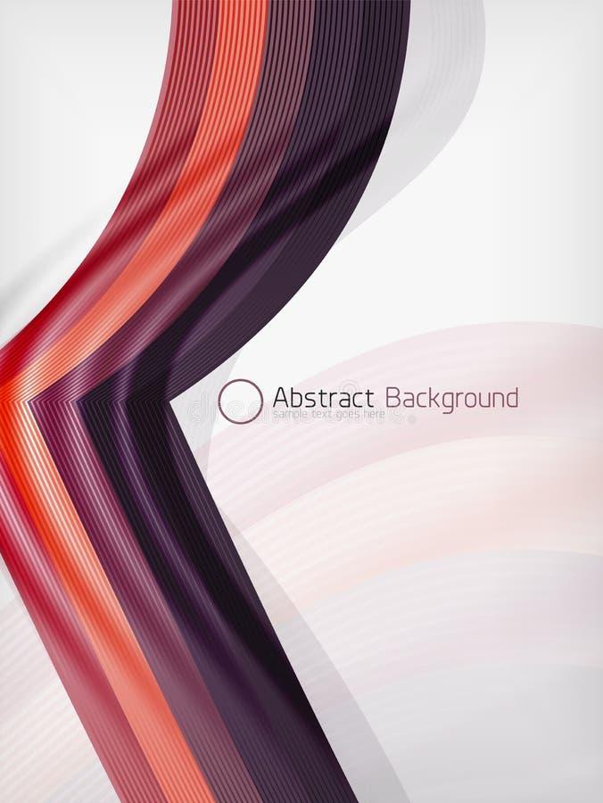 Plantilla del diseño de la abstracción de la onda del color del arco iris ilustración del vector
