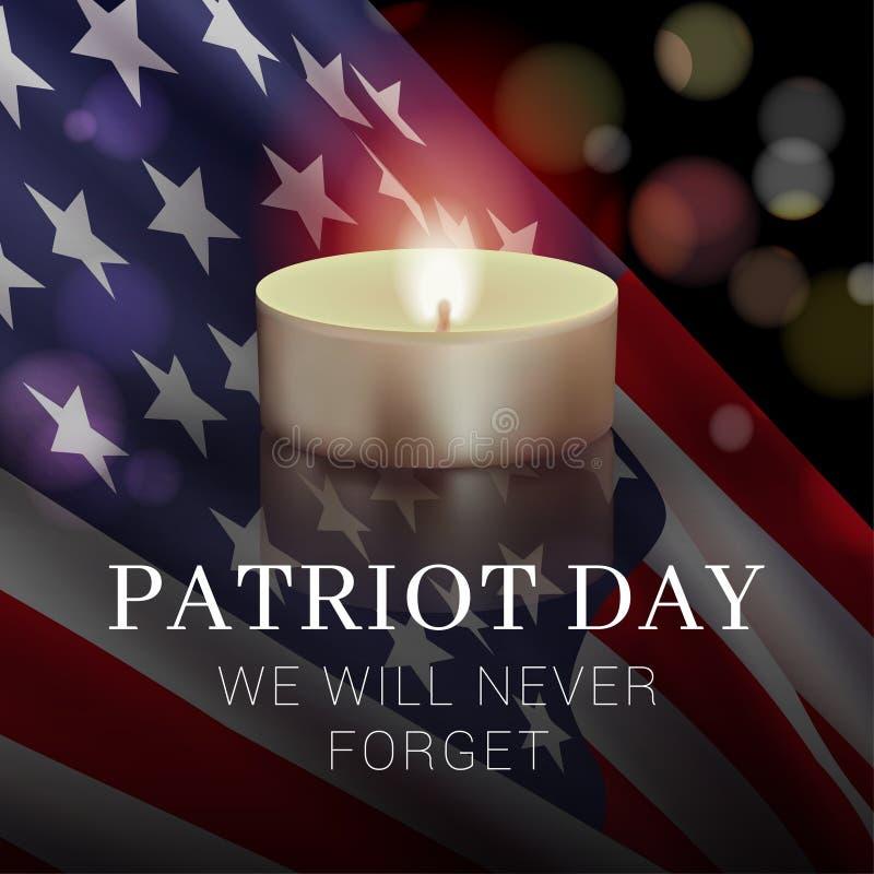 Plantilla del diseño de la bandera del día del patriota fotos de archivo libres de regalías