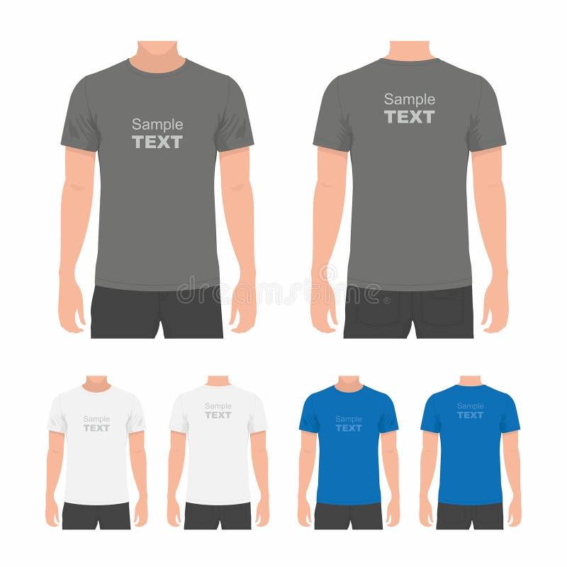 Plantilla del diseño de la camiseta de los hombres stock de ilustración