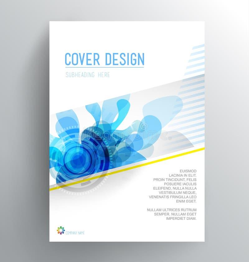 Plantilla del diseño de la cubierta de libro con el chapoteo abstracto libre illustration