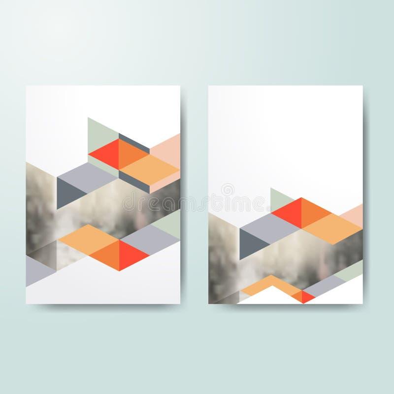 Plantilla del diseño de la cubierta de libro del negocio en A4 Plantilla para la cubierta del prospecto, presentación, folleto, i stock de ilustración