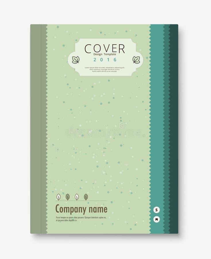 Plantilla del diseño de la cubierta del vintage libro, plantilla del folleto Vector s ilustración del vector