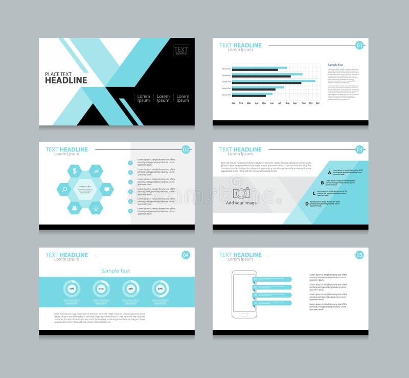 Plantilla del diseño de la disposición de la presentación de la página stock de ilustración