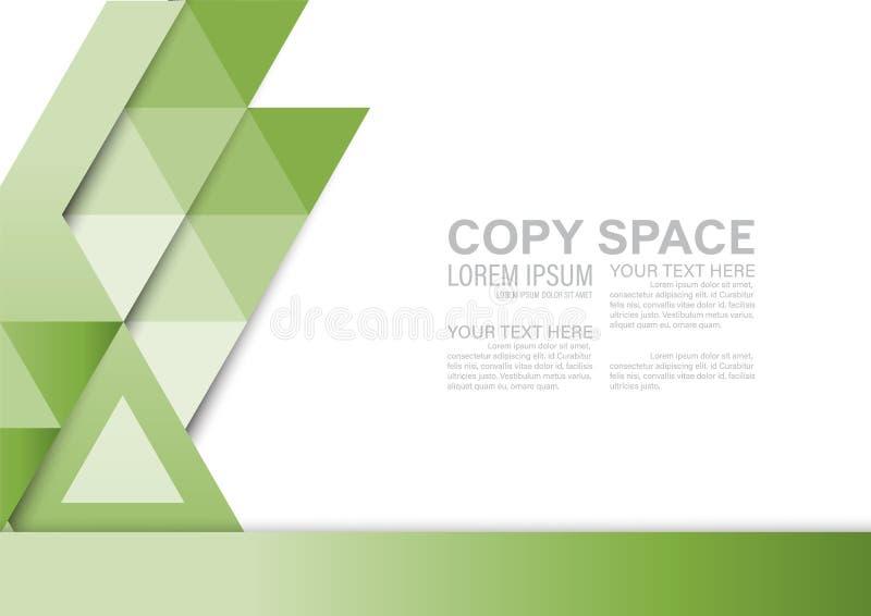 Plantilla del diseño de la disposición de la presentación del verdor Página de cubierta del informe anual stock de ilustración