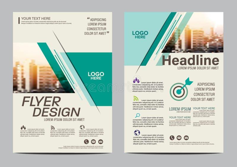 Plantilla del diseño de la disposición del folleto Fondo moderno de la presentación de la cubierta del prospecto del aviador del  libre illustration