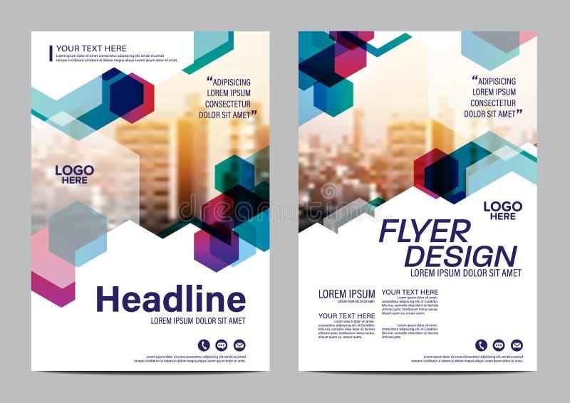 Plantilla del diseño de la disposición del folleto Fondo moderno de la presentación de la cubierta del prospecto del aviador del  stock de ilustración
