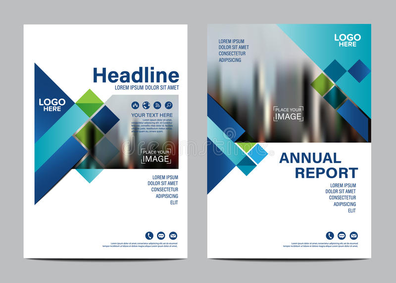 Plantilla del diseño de la disposición del folleto Fondo moderno de la presentación de la cubierta del prospecto del aviador del  ilustración del vector