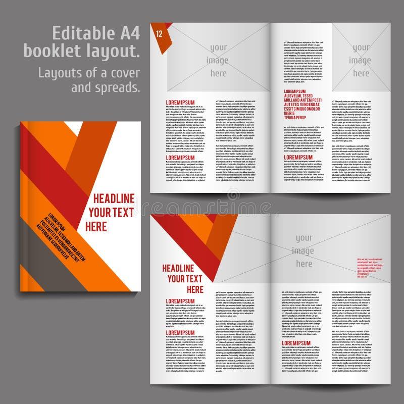 Plantilla del diseño de la disposición del libro A4 libre illustration