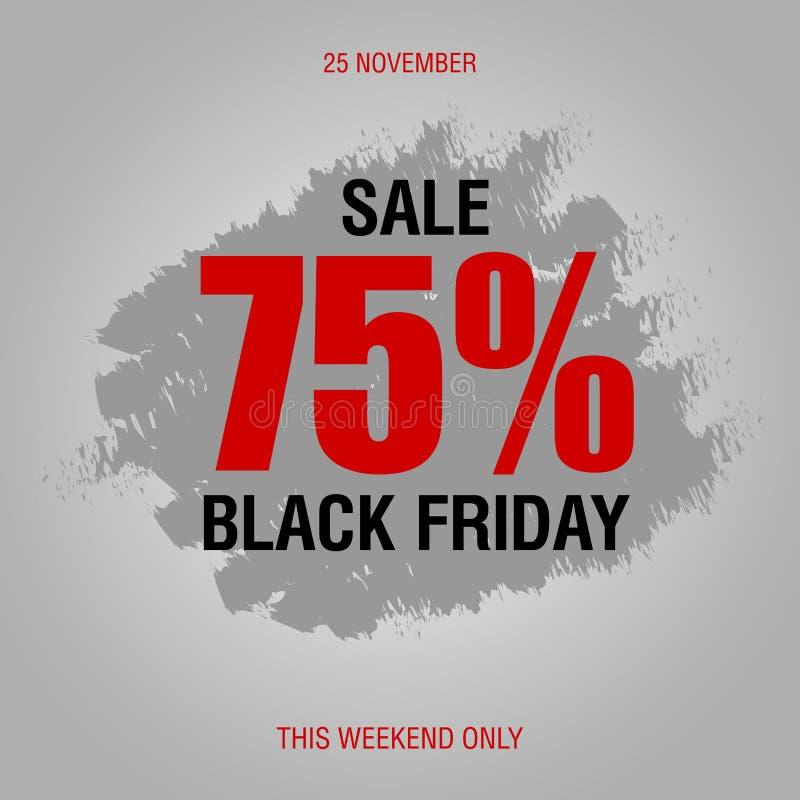 Plantilla del diseño de la inscripción de la venta de Black Friday la mejor Ennegrezca viernes libre illustration