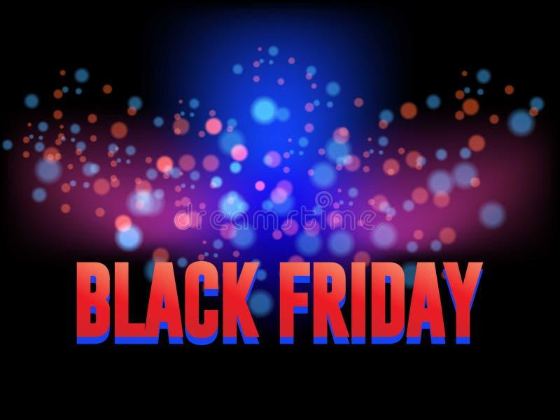 Plantilla del diseño de la inscripción de la venta de Black Friday Bandera negra de viernes Ilustración del vector ilustración del vector