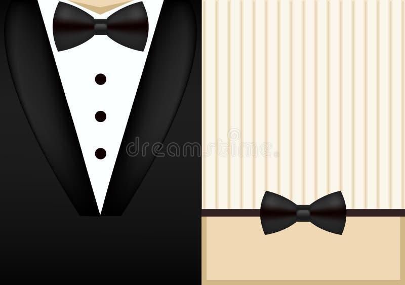 Plantilla del dise o de la invitaci n del smoking de la for Disenos de corbatas