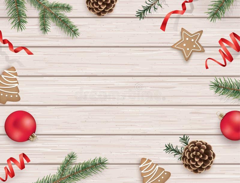 Plantilla del diseño de la Navidad stock de ilustración