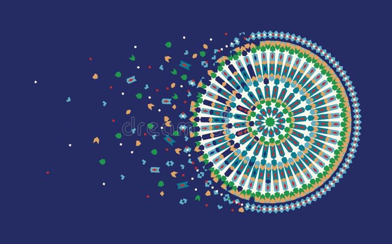 Plantilla del diseño de la página con el ornamento de Marruecos stock de ilustración