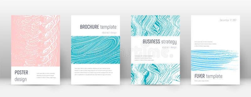 Plantilla del diseño de la página de cubierta Disposición del folleto de Minimalistic Página de cubierta abstracta de moda brilla ilustración del vector