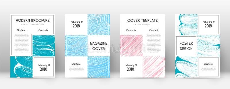 Plantilla del diseño de la página de cubierta Layo del folleto del negocio libre illustration