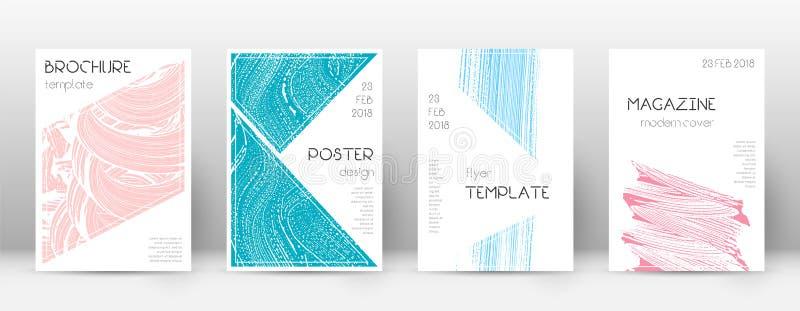 Plantilla del diseño de la página de cubierta Layo del folleto del triángulo stock de ilustración
