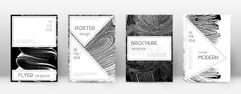 Plantilla del diseño de la página de cubierta Layou elegante del folleto stock de ilustración