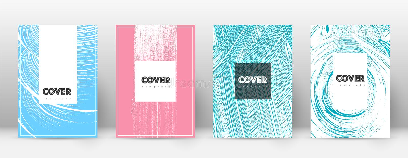 Plantilla del diseño de la página de cubierta Layou del folleto del inconformista ilustración del vector