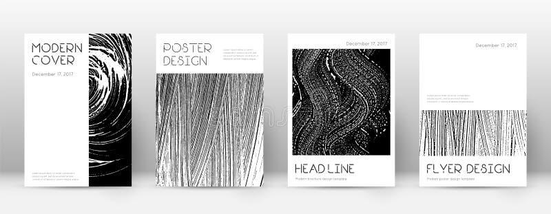 Plantilla del diseño de la página de cubierta Layou mínimo del folleto stock de ilustración