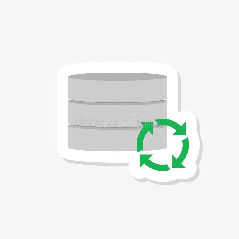 Plantilla del diseño de la página web de la etiqueta engomada de los datos de la recuperación ilustración del vector