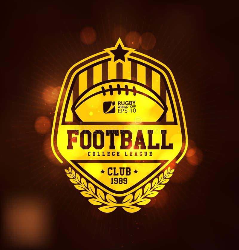 Plantilla del diseño de Logo Sport del campeonato del fútbol stock de ilustración