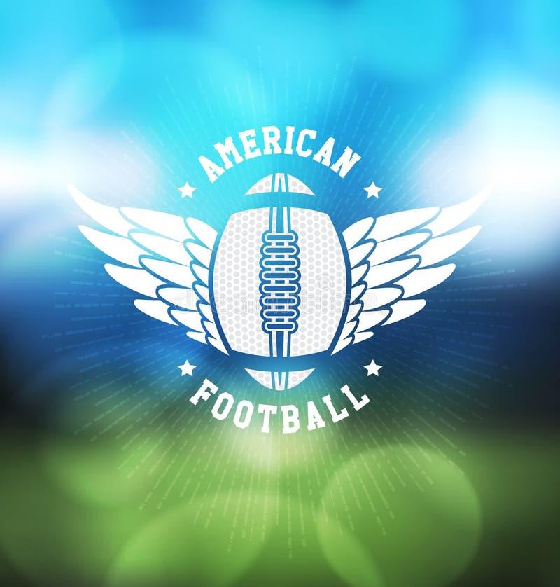 Plantilla del diseño de Logo Sport del fútbol americano ilustración del vector