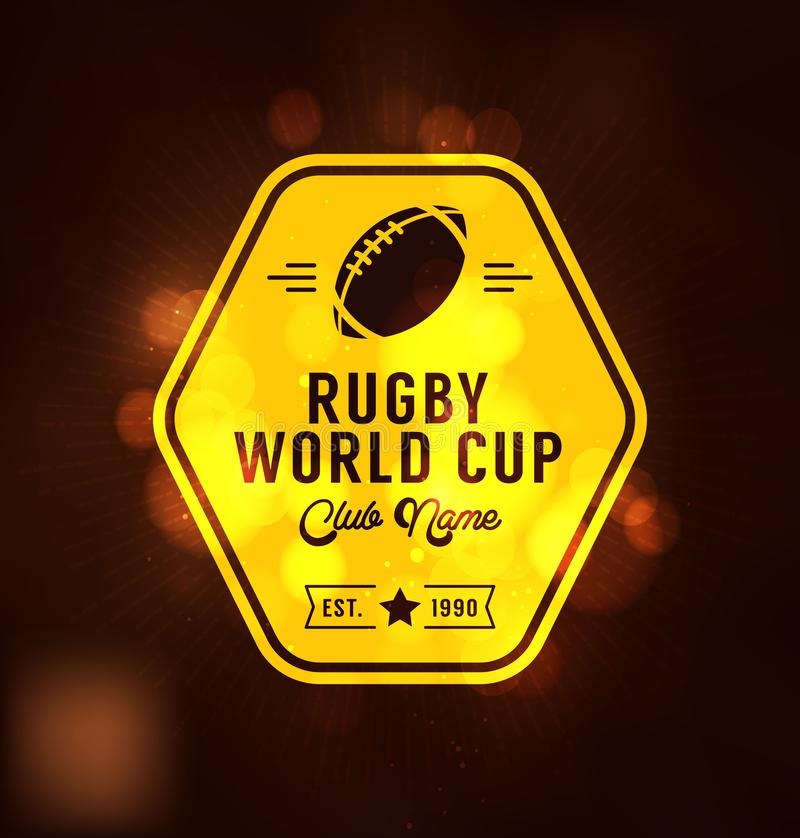 Plantilla del diseño de Logo Sport del mundial del rugbi stock de ilustración