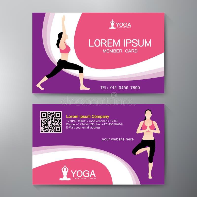 Plantilla Del Diseño De Tarjeta De La Yoga Y De Deporte Ilustración ...