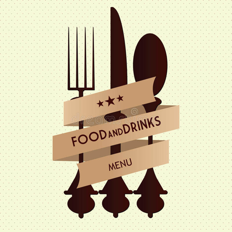 Plantilla del diseño de tarjeta del menú del vintage del restaurante del vector imagen de archivo libre de regalías
