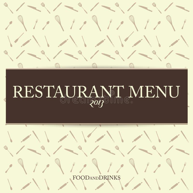 Plantilla del diseño de tarjeta del menú del vintage del restaurante del vector fotografía de archivo