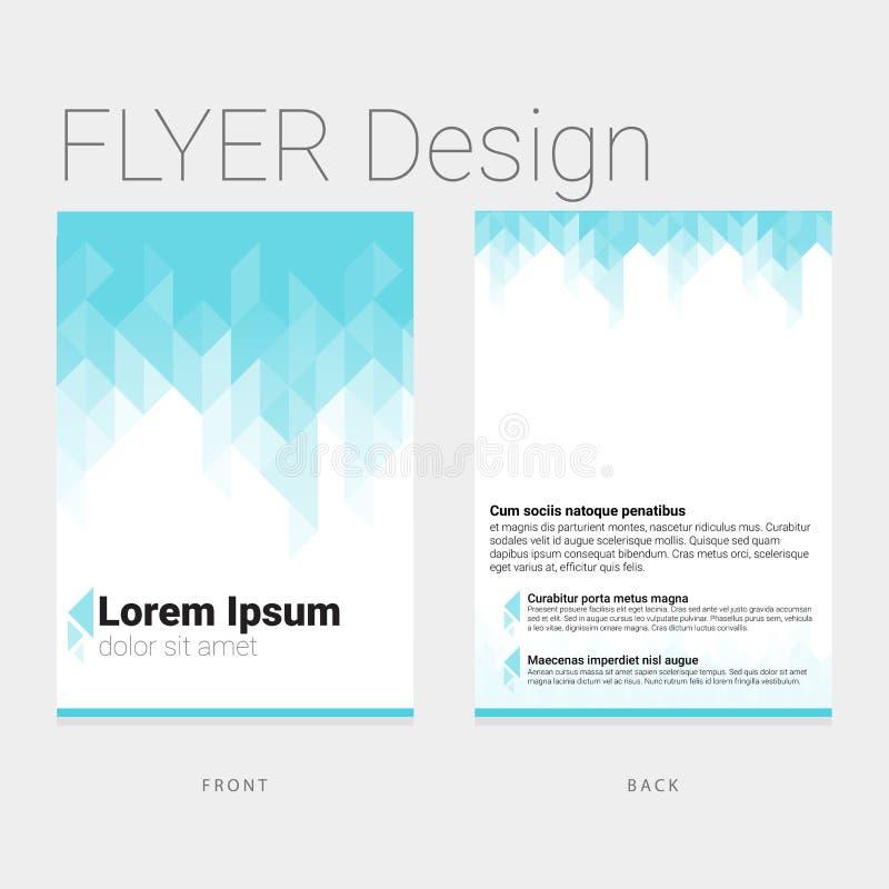 Plantilla del diseño del aviador del polígono de PrintModern ilustración del vector