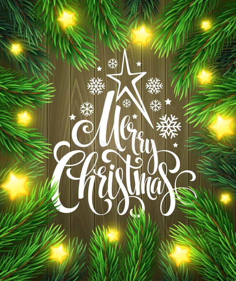 Plantilla del diseño del cartel de la Navidad Vector stock de ilustración